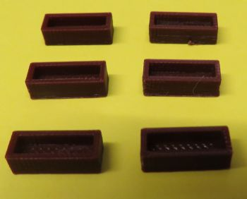 N Scale Flower Boxes - Pack of 6
